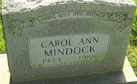 MINDOCK, CAROL ANN - Montgomery County, Ohio   CAROL ANN MINDOCK - Ohio Gravestone Photos
