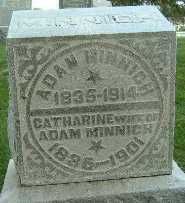 MINNICH, CATHARINE - Montgomery County, Ohio | CATHARINE MINNICH - Ohio Gravestone Photos