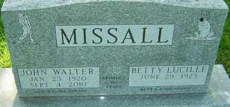 MISSALL, JOHN WALTER - Montgomery County, Ohio   JOHN WALTER MISSALL - Ohio Gravestone Photos