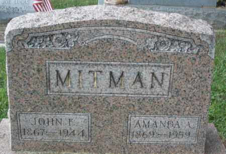 MITMAN, JOHN E. - Montgomery County, Ohio | JOHN E. MITMAN - Ohio Gravestone Photos