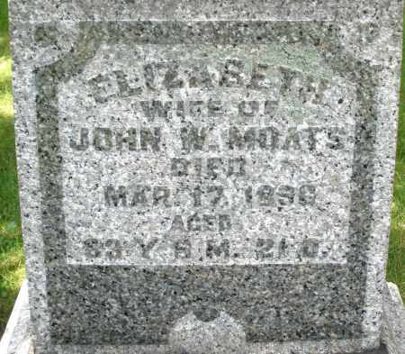 MOATS, ELIZABETH - Montgomery County, Ohio | ELIZABETH MOATS - Ohio Gravestone Photos