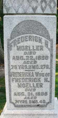 MOELLER, FREDERICKA - Montgomery County, Ohio   FREDERICKA MOELLER - Ohio Gravestone Photos