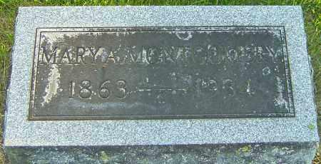 MONTGOMERY, MARY A - Montgomery County, Ohio | MARY A MONTGOMERY - Ohio Gravestone Photos