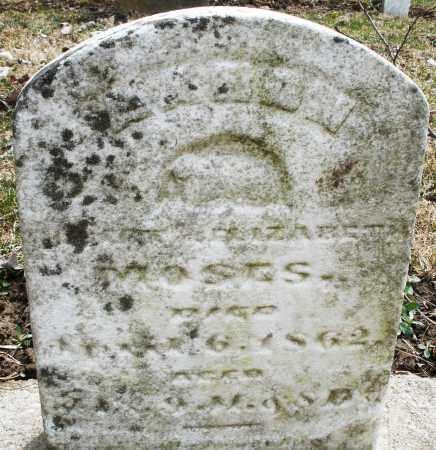 MOSES, AARON - Montgomery County, Ohio   AARON MOSES - Ohio Gravestone Photos
