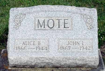 MOTE, ALICE B. - Montgomery County, Ohio | ALICE B. MOTE - Ohio Gravestone Photos
