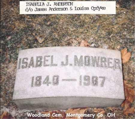 MOWRER, ISABEL - Montgomery County, Ohio | ISABEL MOWRER - Ohio Gravestone Photos