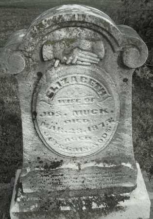 MUCK, ELIZABETH - Montgomery County, Ohio   ELIZABETH MUCK - Ohio Gravestone Photos