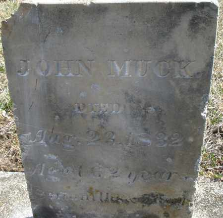 MUCK, JOHN SR - Montgomery County, Ohio | JOHN SR MUCK - Ohio Gravestone Photos