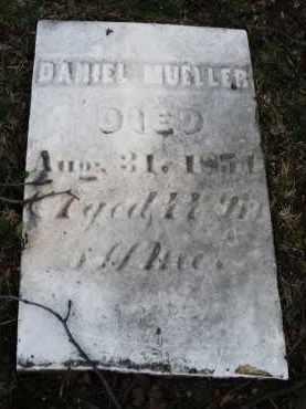 MUELLER, DANIEL - Montgomery County, Ohio | DANIEL MUELLER - Ohio Gravestone Photos