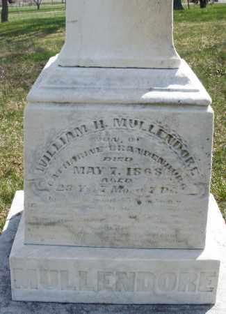 MULLENDORE, WILLIAM H. - Montgomery County, Ohio | WILLIAM H. MULLENDORE - Ohio Gravestone Photos
