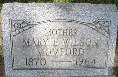 WILSON MUMFORD, MARY E. - Montgomery County, Ohio | MARY E. WILSON MUMFORD - Ohio Gravestone Photos