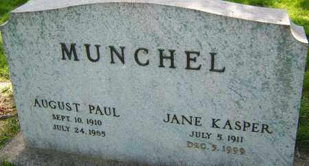MUNCHEL, JANE KASPER - Montgomery County, Ohio   JANE KASPER MUNCHEL - Ohio Gravestone Photos