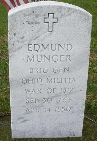 MUNGER, EDMUND - Montgomery County, Ohio   EDMUND MUNGER - Ohio Gravestone Photos