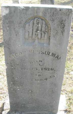 MUSSULMAN, JACOB - Montgomery County, Ohio | JACOB MUSSULMAN - Ohio Gravestone Photos