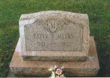 MAHAN MYERS, BETTY FRANCES - Montgomery County, Ohio | BETTY FRANCES MAHAN MYERS - Ohio Gravestone Photos
