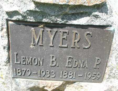 MYERS, LEMON B. - Montgomery County, Ohio | LEMON B. MYERS - Ohio Gravestone Photos