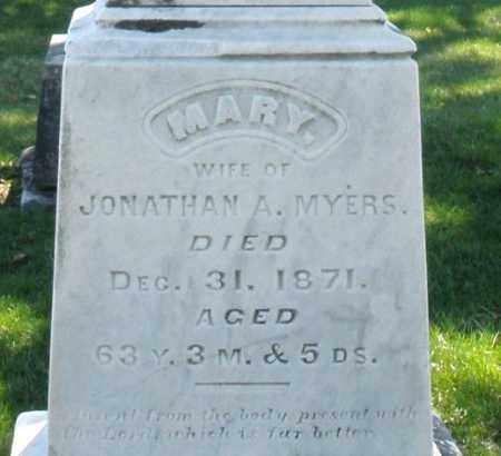 MYERS, MARY - Montgomery County, Ohio   MARY MYERS - Ohio Gravestone Photos