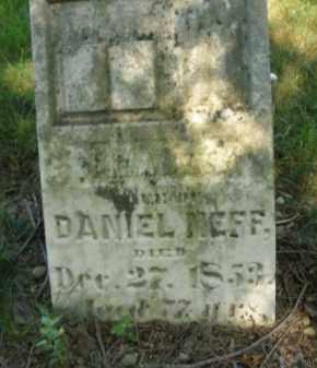 NEFF, DANIEL - Montgomery County, Ohio   DANIEL NEFF - Ohio Gravestone Photos
