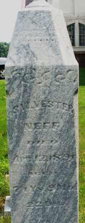 NEFF, SYLVESTER - Montgomery County, Ohio | SYLVESTER NEFF - Ohio Gravestone Photos