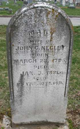 NEGLEY, MARY - Montgomery County, Ohio | MARY NEGLEY - Ohio Gravestone Photos