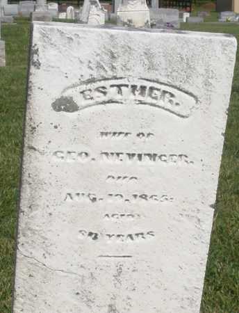 NEVINGER ?, ESTHER - Montgomery County, Ohio | ESTHER NEVINGER ? - Ohio Gravestone Photos