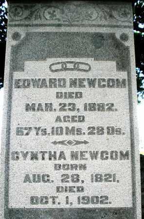 NEWCOM, EDWARD - Montgomery County, Ohio | EDWARD NEWCOM - Ohio Gravestone Photos