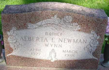 WYNN NEWMAN, ALBERTA ELAINE - Montgomery County, Ohio | ALBERTA ELAINE WYNN NEWMAN - Ohio Gravestone Photos