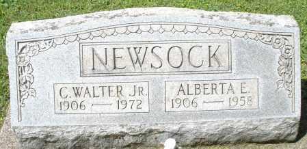 NEWSOCK, C. WALTER JR. - Montgomery County, Ohio | C. WALTER JR. NEWSOCK - Ohio Gravestone Photos