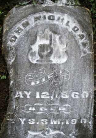 NICHOLAS, JOHN - Montgomery County, Ohio | JOHN NICHOLAS - Ohio Gravestone Photos