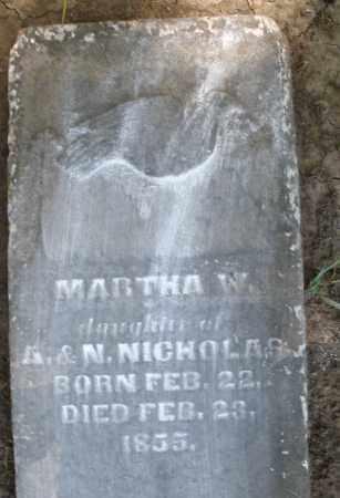 NICHOLAS, MARTHA W. - Montgomery County, Ohio | MARTHA W. NICHOLAS - Ohio Gravestone Photos