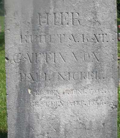 NICKEL, PAUL - Montgomery County, Ohio | PAUL NICKEL - Ohio Gravestone Photos