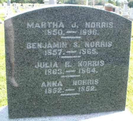 NORRIS, ANNA - Montgomery County, Ohio | ANNA NORRIS - Ohio Gravestone Photos