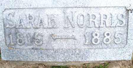 NORRIS, SARAH - Montgomery County, Ohio   SARAH NORRIS - Ohio Gravestone Photos