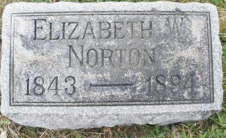 NORTON, ELIZABETH W. - Montgomery County, Ohio   ELIZABETH W. NORTON - Ohio Gravestone Photos
