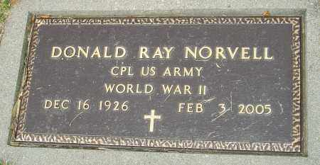 NORVELL, DONALD RAY - Montgomery County, Ohio | DONALD RAY NORVELL - Ohio Gravestone Photos