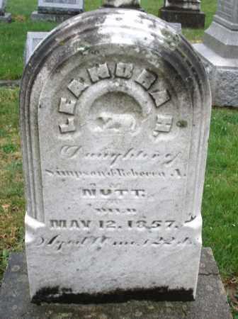 NUTT, LEANORA H. - Montgomery County, Ohio | LEANORA H. NUTT - Ohio Gravestone Photos