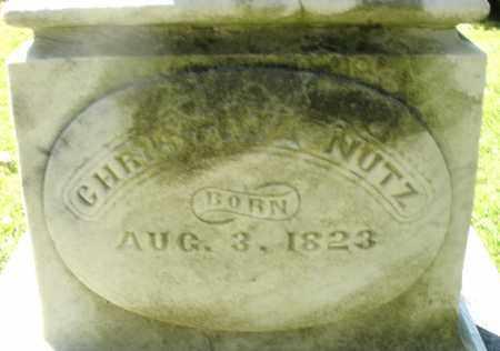 NUTZ, CHRISTINA - Montgomery County, Ohio | CHRISTINA NUTZ - Ohio Gravestone Photos