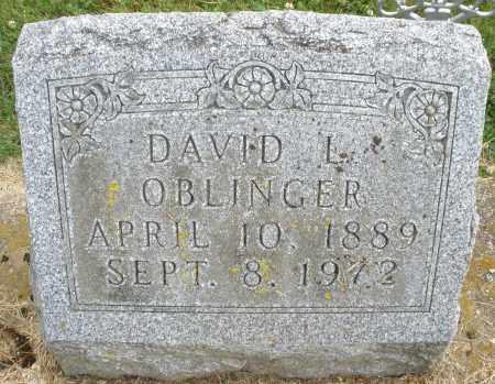 OBLINGER, DAVID L. - Montgomery County, Ohio | DAVID L. OBLINGER - Ohio Gravestone Photos