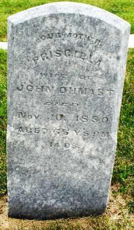 OHMAST, PRISCILLA - Montgomery County, Ohio | PRISCILLA OHMAST - Ohio Gravestone Photos