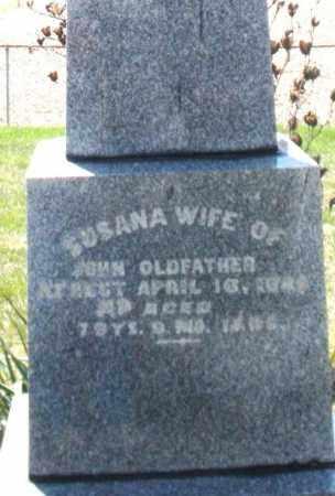 OLDFATHER, SUSANA - Montgomery County, Ohio | SUSANA OLDFATHER - Ohio Gravestone Photos