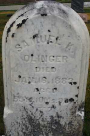 OLINGER, SAMUEL K. - Montgomery County, Ohio | SAMUEL K. OLINGER - Ohio Gravestone Photos