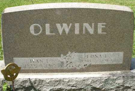 OLWINE, EDNA I. - Montgomery County, Ohio | EDNA I. OLWINE - Ohio Gravestone Photos