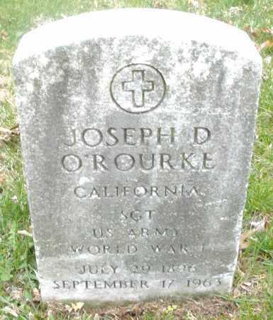 O'ROURKE, JOSEPH D. - Montgomery County, Ohio   JOSEPH D. O'ROURKE - Ohio Gravestone Photos