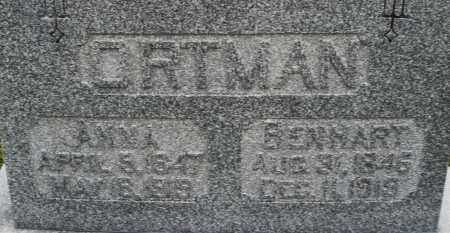 ORTMAN, BENHART - Montgomery County, Ohio | BENHART ORTMAN - Ohio Gravestone Photos
