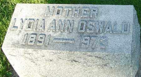 OSWALD, LYDIA ANN - Montgomery County, Ohio   LYDIA ANN OSWALD - Ohio Gravestone Photos