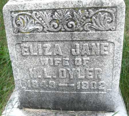 OYLER, ELIZA JANE - Montgomery County, Ohio   ELIZA JANE OYLER - Ohio Gravestone Photos