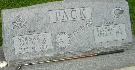 PACK, NORMAN E - Montgomery County, Ohio | NORMAN E PACK - Ohio Gravestone Photos