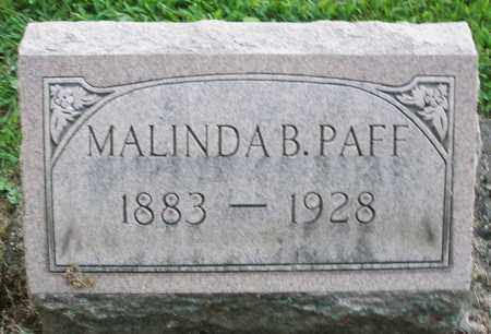 PAFF, MALINDA B. - Montgomery County, Ohio | MALINDA B. PAFF - Ohio Gravestone Photos