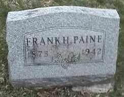 PAINE, FRANK H. - Montgomery County, Ohio | FRANK H. PAINE - Ohio Gravestone Photos