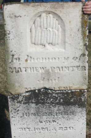 PAINTER, MATTHEW - Montgomery County, Ohio | MATTHEW PAINTER - Ohio Gravestone Photos